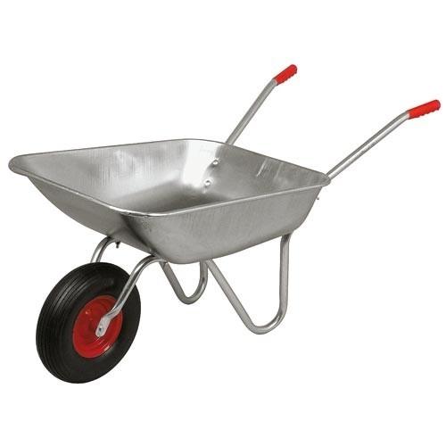 WOW-Baukarre-Garten-Karre-Gartenkarre-Schubkarre-80-Liter-Metall-verzinkte-Mulde
